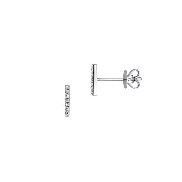 ソナティナ レディース ピアス&イヤリング アクセサリー 14 White Gold & 0.05 TCW Diamond White Earrings White Gold