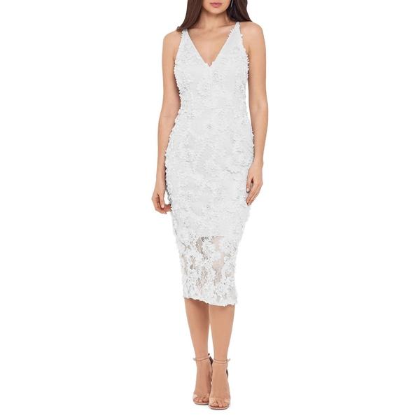 エスケープ レディース ワンピース トップス Sleeveless Floral Applique Midi Dress Ivory