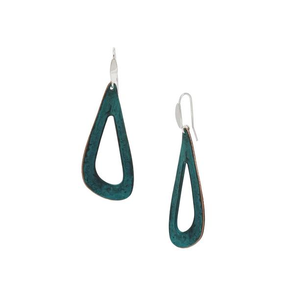 ロバートリーモリス レディース ピアス&イヤリング アクセサリー Silvertone Sculptural Drop Earrings Silver