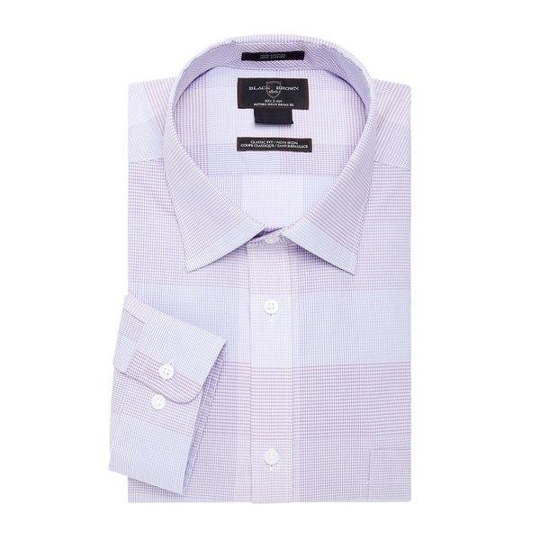 ブラック・ブラウン1826 メンズ シャツ トップス Mini Checkered Dress Shirt Blue