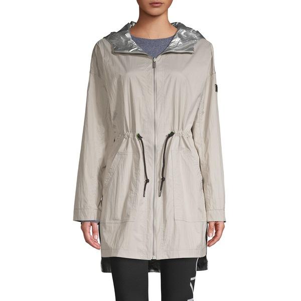 カルバンクライン レディース コート アウター Metallic Nylon Reversible Jacket New Beige