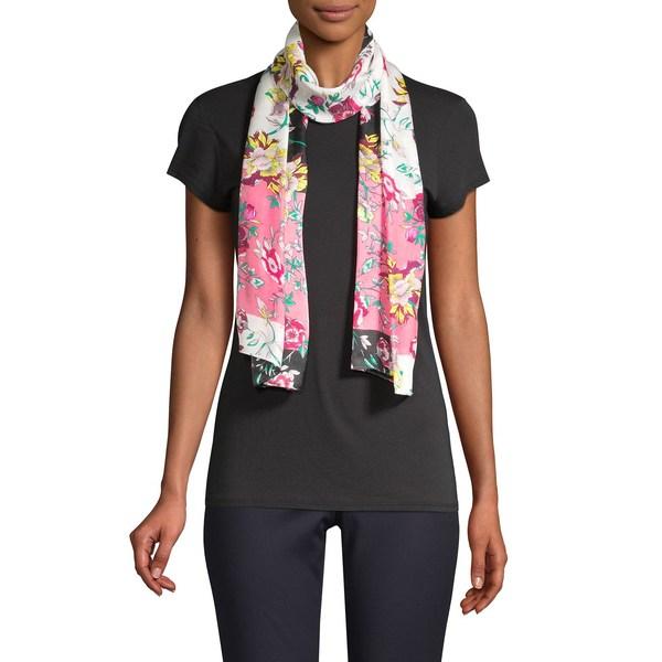 ヴィンスカムート レディース マフラー・ストール・スカーフ アクセサリー Floral Wrap-Around Silk Scarf Bloom