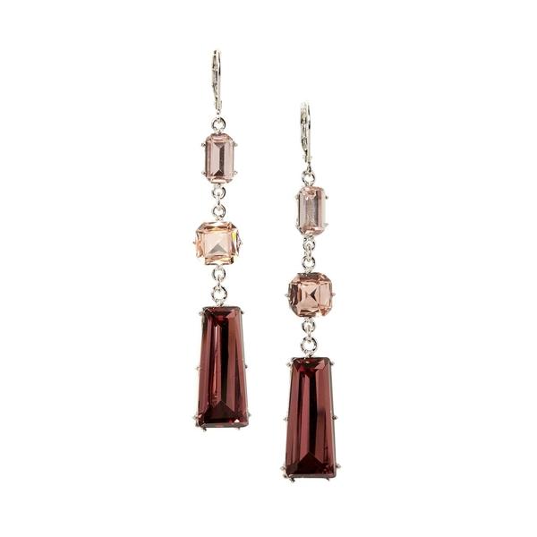 ヴィンスカムート レディース ピアス&イヤリング アクセサリー Ice Cold Silvertone & Multicolored Crystal Triple Drop Linear Earrings Silver