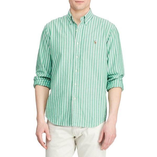 ラルフローレン メンズ シャツ トップス Classic-Fit Striped Oxford Shirt Mint Green