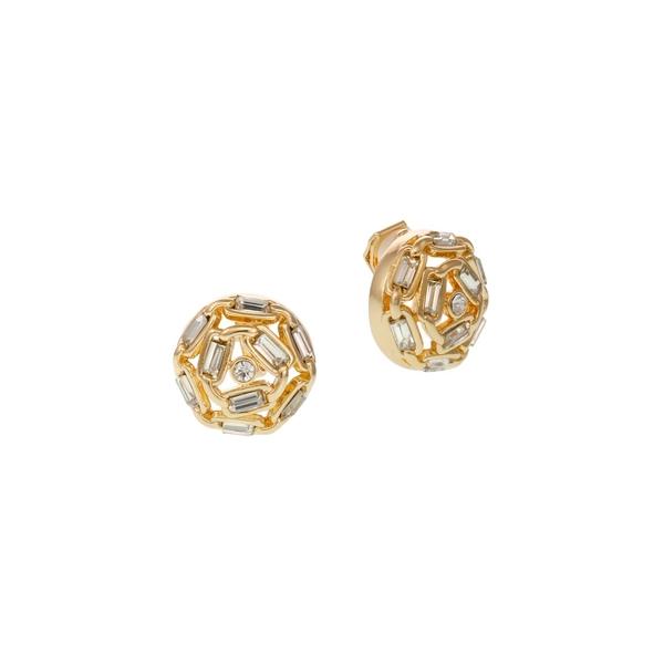 ランドリーバイシェリーシーガル レディース ピアス&イヤリング アクセサリー Goldtone & Crystal Clip-On Button Earrings Gold
