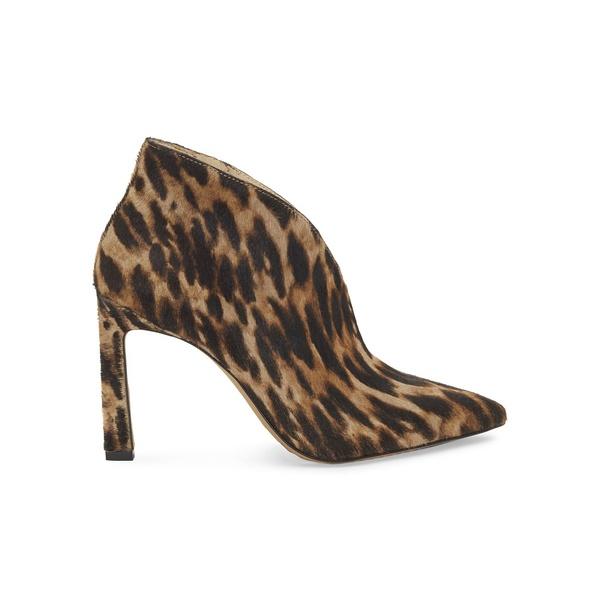 ヴィンスカムート レディース ブーツ&レインブーツ シューズ Leopard-Print Calf-Hair Booties Natural