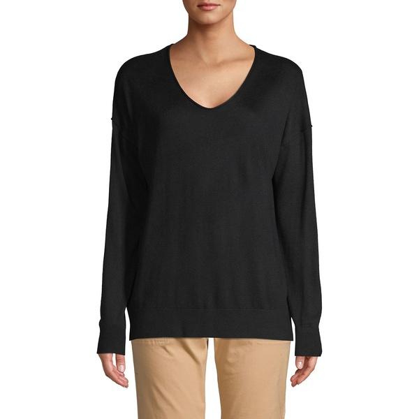 コアライフ レディース ニット&セーター アウター V-Neck Pullover Sweater Black