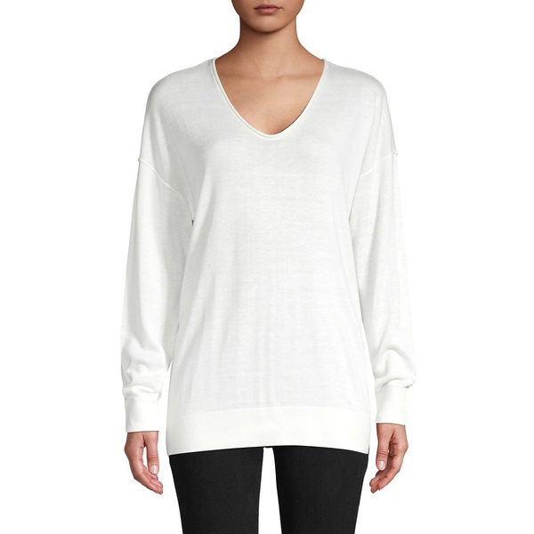 コアライフ レディース ニット&セーター アウター V-Neck Pullover Sweater White
