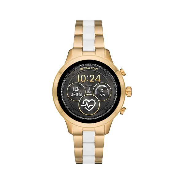 マイケルコース レディース 腕時計 アクセサリー Runway Stainless Steel Two-Tone Touchscreen Smart Watch Two Tone