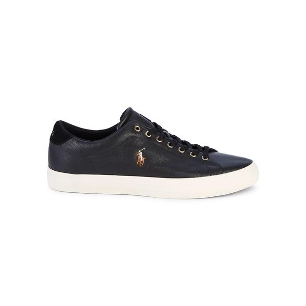 ラルフローレン メンズ スニーカー シューズ Longwood Leather Sneakers Black