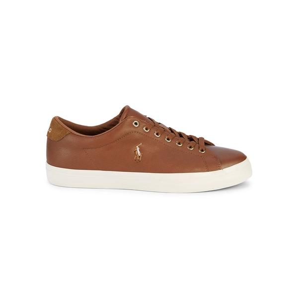 ラルフローレン メンズ スニーカー シューズ Longwood Leather Sneakers Tan