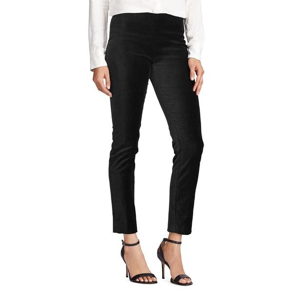 ラルフローレン レディース カジュアルパンツ ボトムス Stretch Velvet Skinny Pants Black