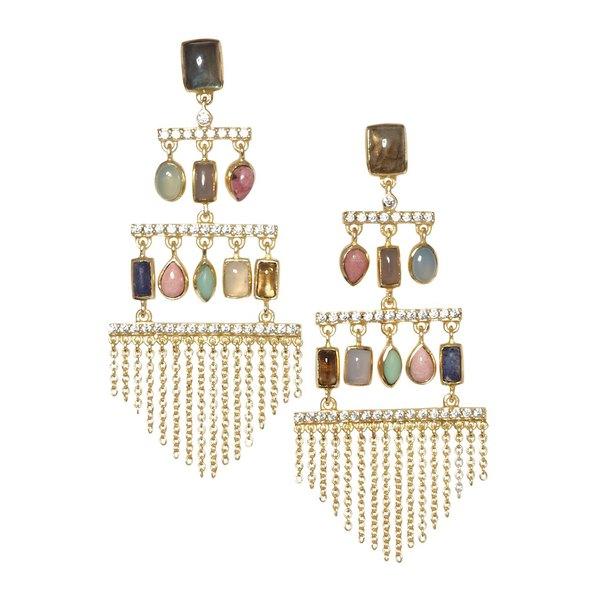 ソロソサエティ レディース ピアス&イヤリング アクセサリー Goldtone & Multicolored Crystal Chandelier Drop Earrings Gold