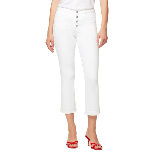 サンクチュアリー レディース デニムパンツ ボトムス Connector Kick Cropped Jeans White