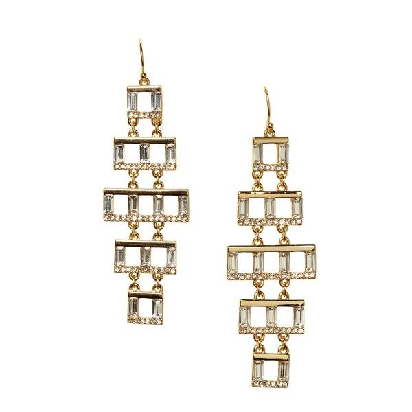 ヴィンスカムート レディース ピアス&イヤリング アクセサリー Goldtone & Crystal Chandelier Earrings Gold