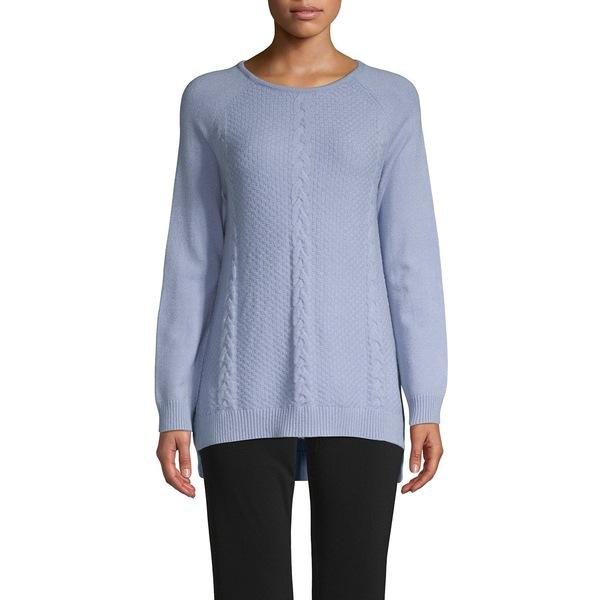 ジョアンバス レディース ニット&セーター アウター Cable-Knit Ribbed Sweater Blue Mist