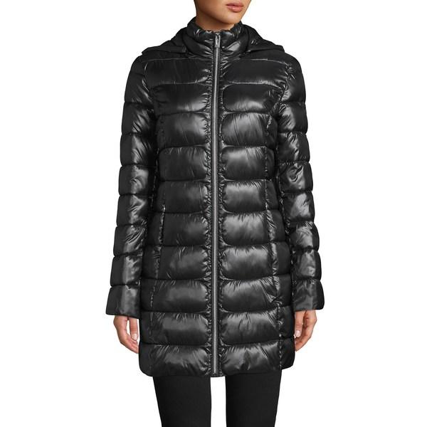 ヴィアスピガ レディース コート アウター Packable Hooded Puffer Coat Black