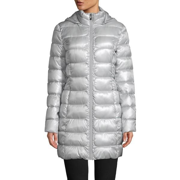 ヴィアスピガ レディース コート アウター Packable Hooded Puffer Coat Silver