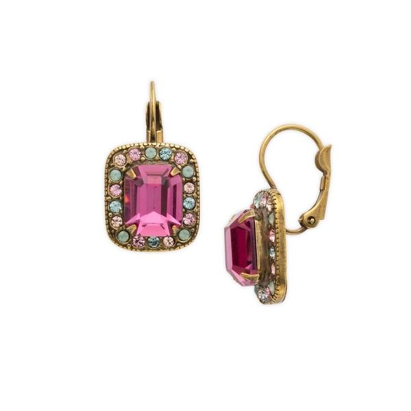 ソレーリ レディース ピアス&イヤリング アクセサリー Radiant Sunrise Opulent Crystal Octagon Drop Earrings Radiant Sunrise