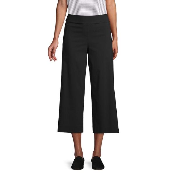 アイザック ミズラヒ レディース カジュアルパンツ ボトムス Slimming Cropped Wide-Leg Pants Black