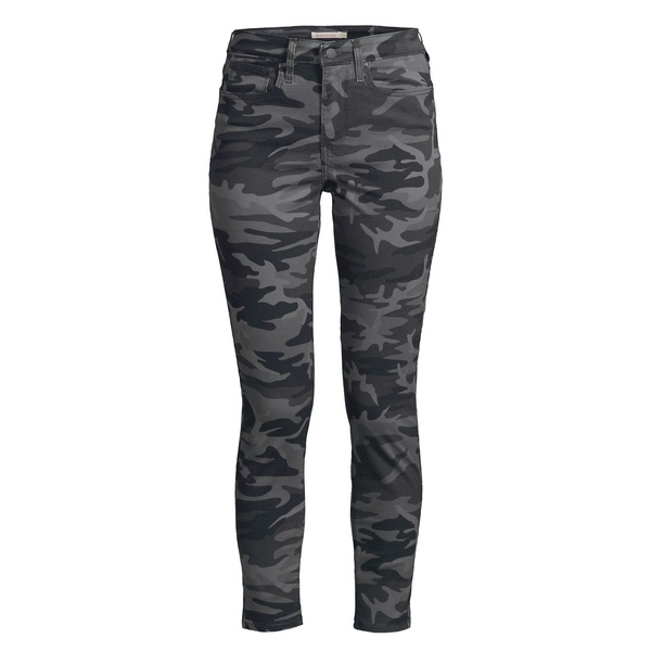 リーバイス レディース デニムパンツ ボトムス 711 Camouflage Skinny Jeans Black Camo