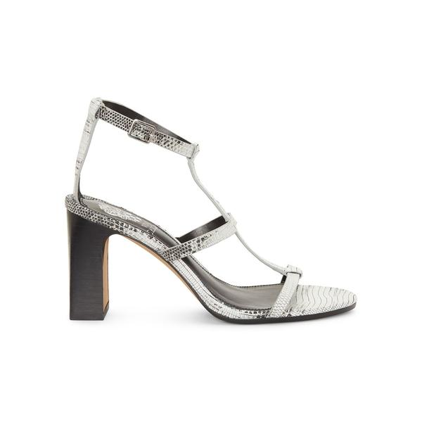 ヴィンスカムート レディース パンプス シューズ Balindah Snakeskin-Print Leather Sandals Black Natural