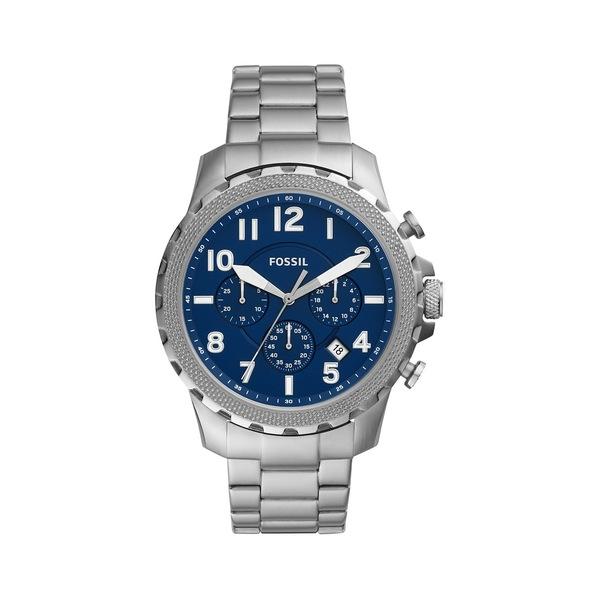 フォッシル レディース 腕時計 アクセサリー Bowman Stainless Steel Chronograph Watch Silver