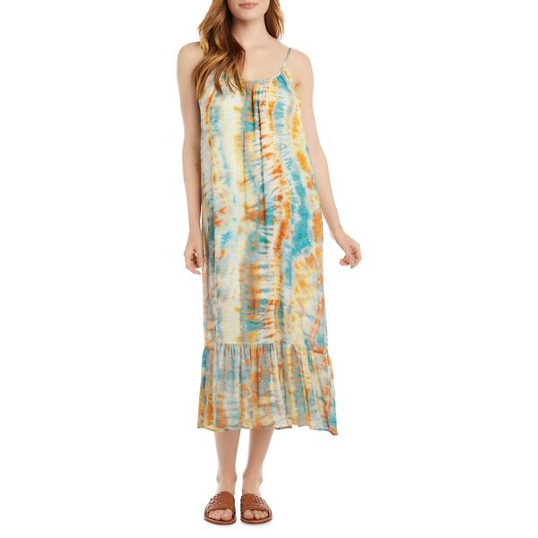 カレンケーン レディース ワンピース トップス Tie-Dyed Ruffled Hem Sundress Multicolor