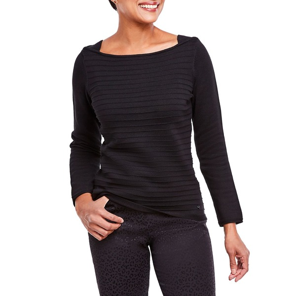 オルセン レディース ニット&セーター アウター Boatneck Sweater Black