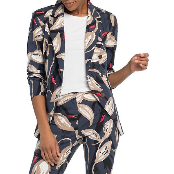 ニックプラスゾーイ レディース コート アウター Printed Cotton-Blend Blazer Indigo Multi