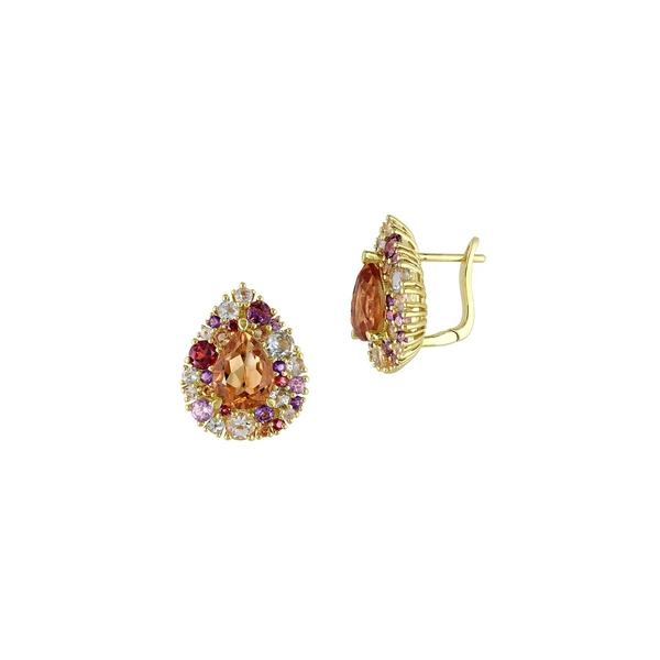 ソナティナ レディース ピアス&イヤリング アクセサリー Multi-Stone Teardrop Earrings Gold