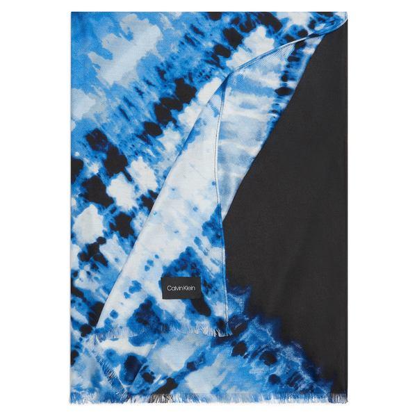 カルバンクライン レディース マフラー・ストール・スカーフ アクセサリー Diagonal Tie-Dyed Pashmina Scarf Stone Blue