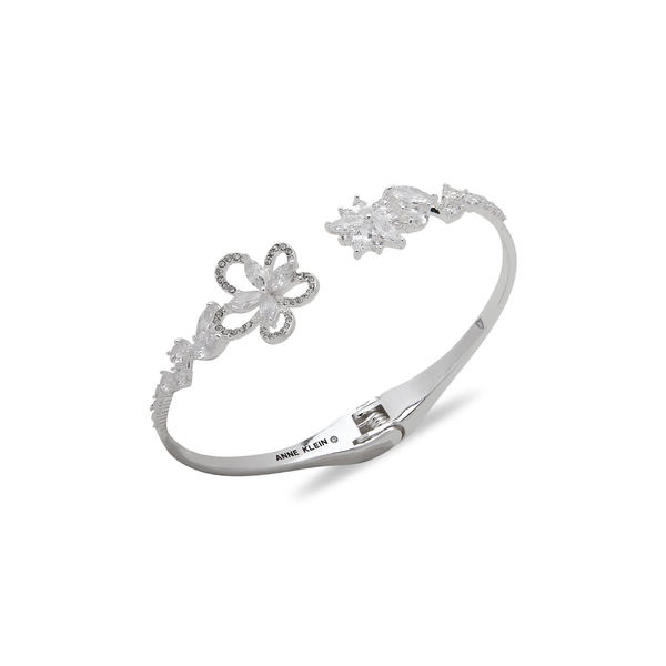 アンクライン レディース ブレスレット・バングル・アンクレット アクセサリー Silvertone & Crystal Cuff Bracelet Silver