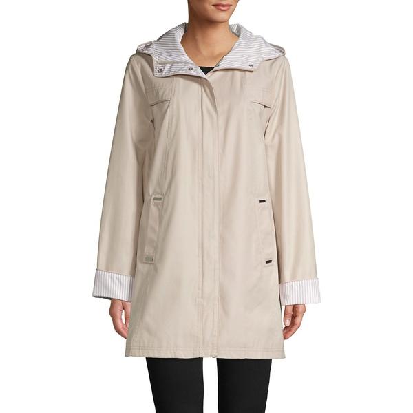 ジョーンズニューヨーク レディース コート アウター Cotton-Blend Hooded Jacket Tan