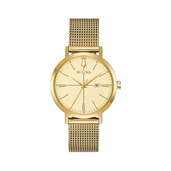 ブロバ レディース 腕時計 アクセサリー Classic Aerojecy Goldtone Stainless Steel Watch Gold