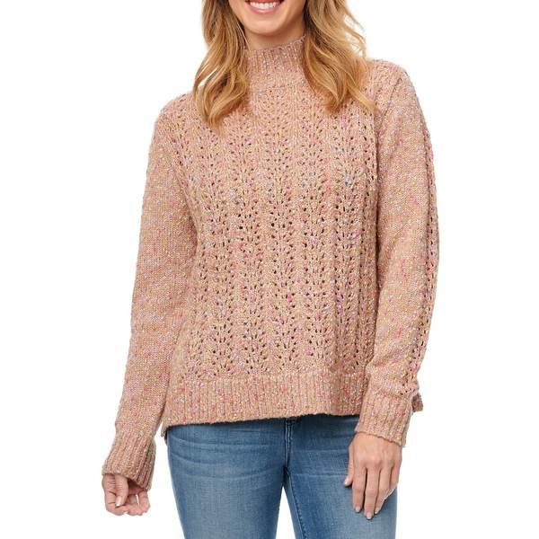 デモクラシー レディース ニット&セーター アウター Open-Knit Mockneck Sweater Nude