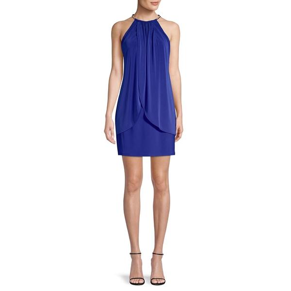 ケンジー レディース ワンピース トップス Halter Layered Mini Dress Cobalt
