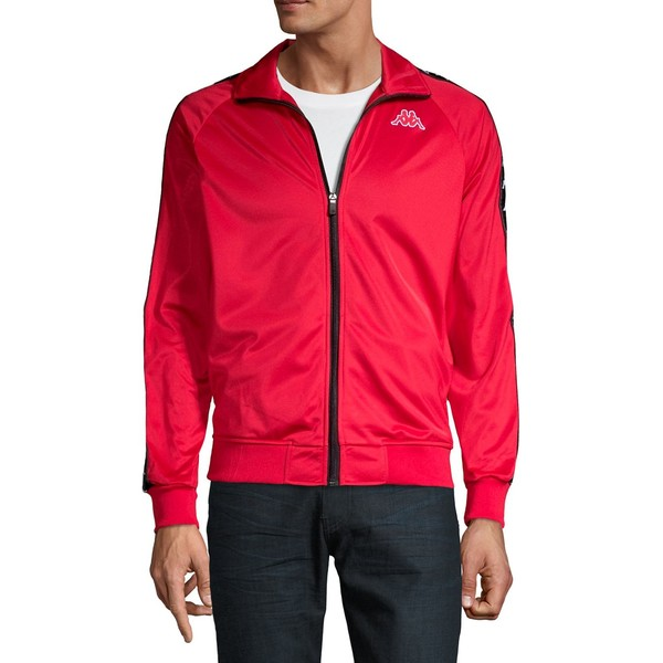 カッパ メンズ ジャケット&ブルゾン アウター Raglan-Sleeve Zip-Up Jacket Dark Red