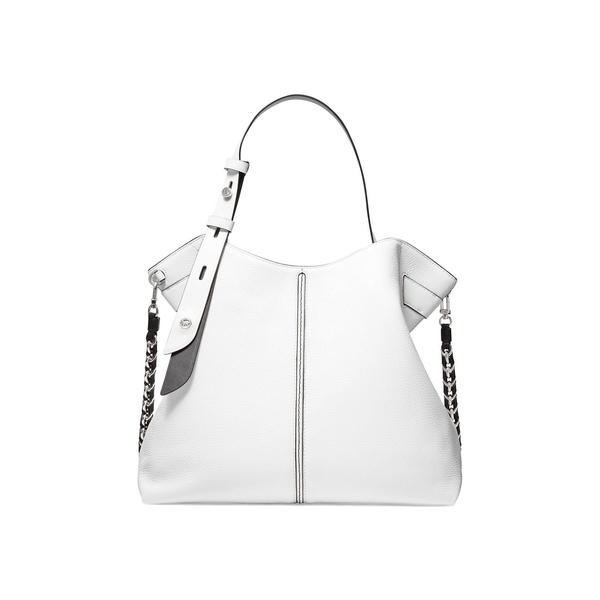 マイケルコース レディース ショルダーバッグ バッグ Downtown Astor Leather Shoulder Bag Optic White