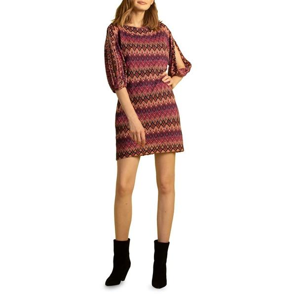 トリーナターク レディース ワンピース トップス Nature Chevron-Print Mini Dress Multi