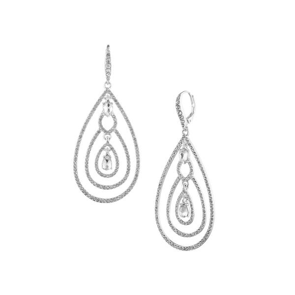 ラルフローレン レディース ピアス&イヤリング アクセサリー Silvertone & Crystal Teardrop Earrings Silver