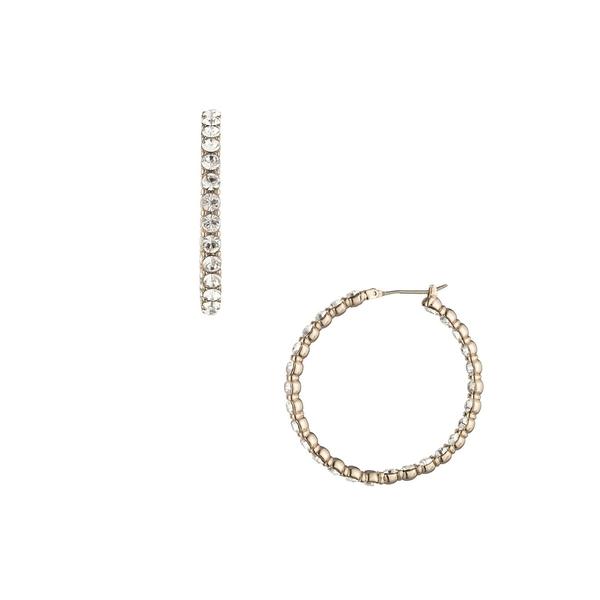 ジバンシー レディース ピアス&イヤリング アクセサリー Goldtone & Crystal Hoop Earrings Gold