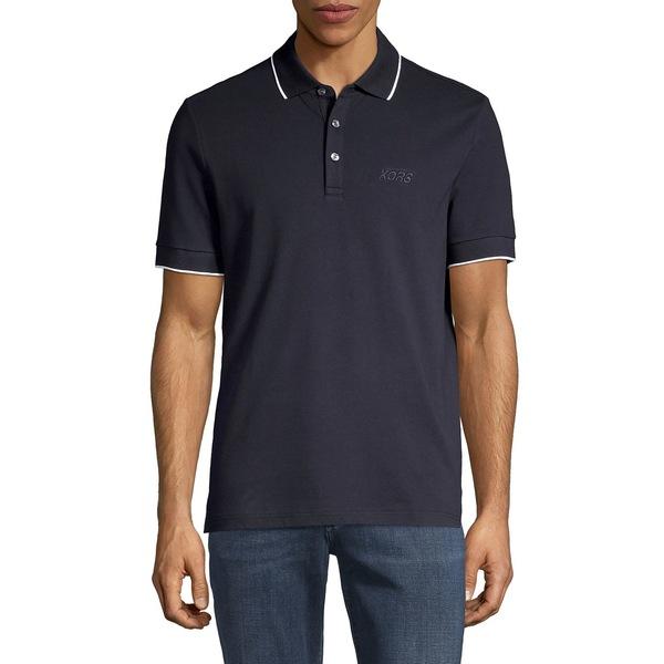 マイケルコース メンズ シャツ トップス Short-Sleeve Stretch-Cotton Polo Dark Midnight