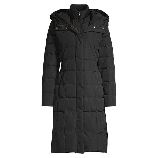 コールハーン レディース コート アウター Hooded Puffer Coat Black