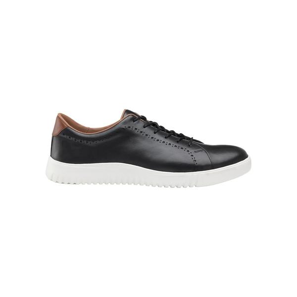 ジョンストンアンドマーフィー メンズ スニーカー シューズ McFarland Lace-Up Leather Sneakers Black