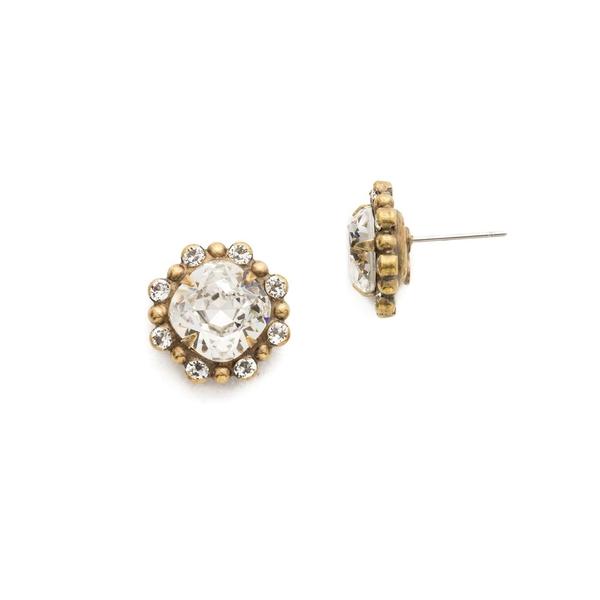 ソレーリ レディース ピアス&イヤリング アクセサリー Core Vision Crystal Stud Earrings Gold