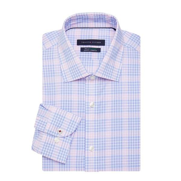 トミー ヒルフィガー メンズ シャツ トップス Checkered Button-Down Shirt Blossom