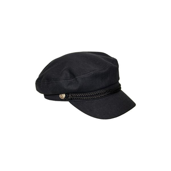 ピーターグリム レディース 帽子 アクセサリー Teza Cotton Canvas Newsboy Hat Black