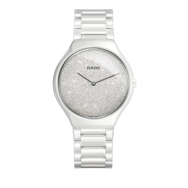 ラド レディース 腕時計 アクセサリー True Thinline Ceramic Bracelet Watch White
