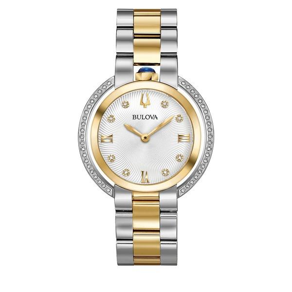 ブロバ レディース 腕時計 アクセサリー Rubaiyat Diamond & Two-Tone Bracelet Watch Two Tone